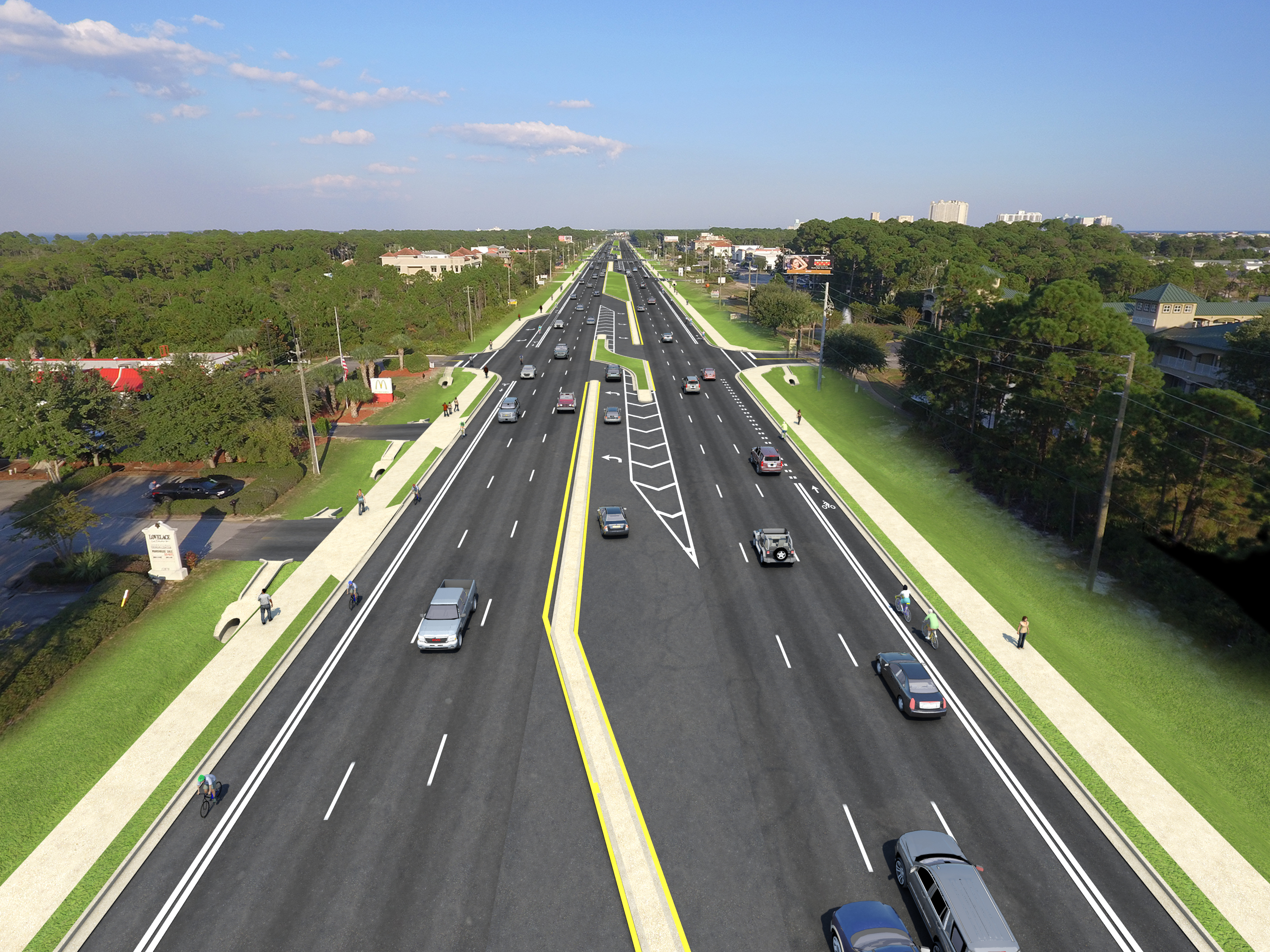 FDOT :: US 98 from Emerald Bay Drive to Tang-O-Mar Drive